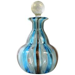 Murano Latticino Perfume Bottle Attributed to Fratelli Toso