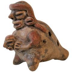 Pre-Columbian Zoomorphic Ocarina Musical Instrument