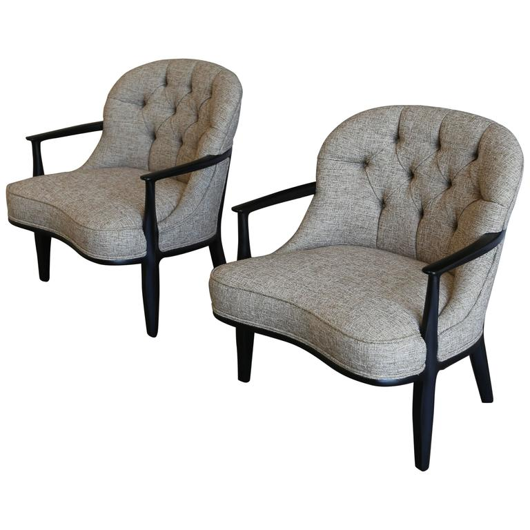 "Pair of ""Janus"" Chairs by Edward Wormley for Dunbar"