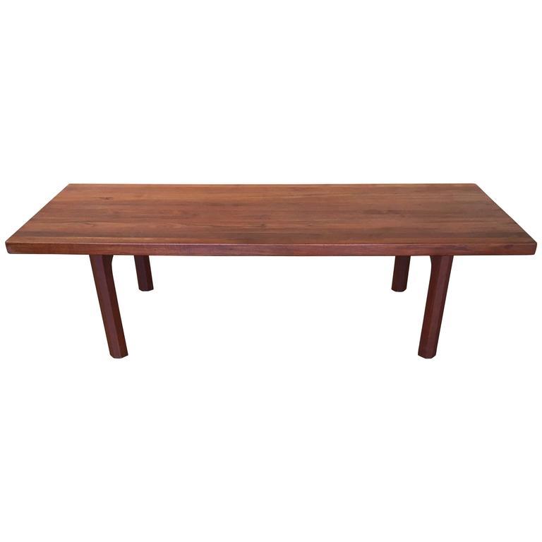 Danish Modern Solid Teak Bench