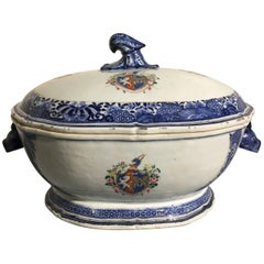 18th Century Chinese Export Porcelain Armorial Tureen