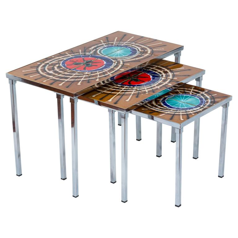 Set of Juliette Belarti Nesting Tables For Sale