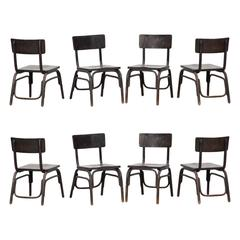 1920's black beech bentwood Easy Chairs by Ferdinand Kramer (8)