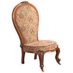 19th Century Antique Nursing Chair, English Regency, circa 1820