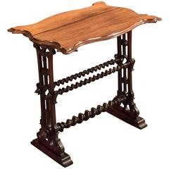 19th Century Victorian Rosewood Side Table, circa 1860