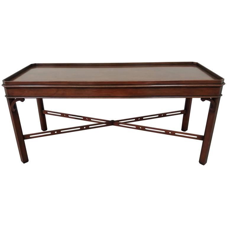 Mahogany Cut Corner Coffee Table For Sale At 1stdibs