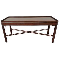 Arthur Brett Mahogany Cut Corner Coffee Table