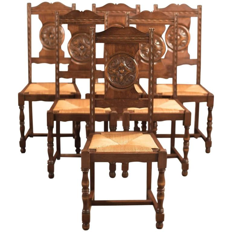 Edwardian Set of Six Antique Dining Chairs, circa 1910 1 - Edwardian Set Of Six Antique Dining Chairs, Circa 1910 At 1stdibs