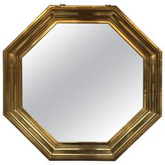 French 1970s Octagonal Mirror