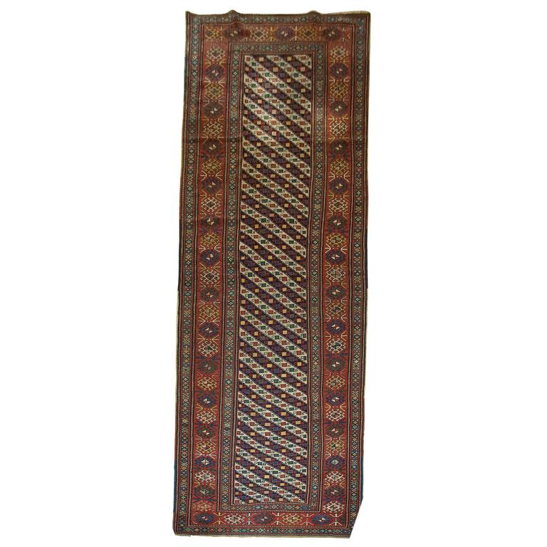 Antique Caucasian Shirvan Runner From The South Eastern Caucasus Circa 1890