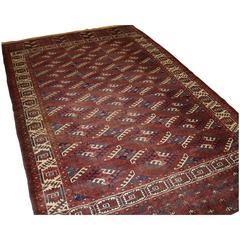 Good Antique Yomut Turkmen Main Carpet, Fourth Quarter of the 19th Century