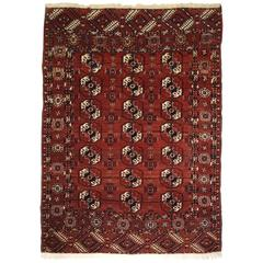 Antique Tekke Turkmen Rug of Excellent Design and Color, circa 1900