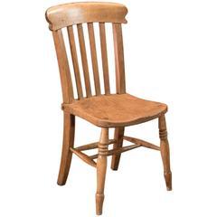 19th Century Victorian Elm Station Chair, circa 1850