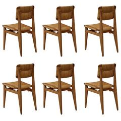 Rare Set of Six Marcel Gascoin Chairs