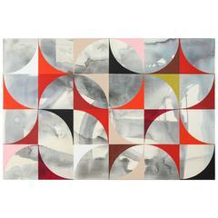 "Stepladder Seven (2017), 72"" x 48"", oil/acrylic on canvas, by Ann Thronycroft"