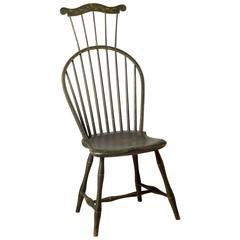 Green-Painted Comb-Back Windsor Side Chair