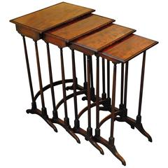 Fine Quartetto Nest of Mahogany Tables