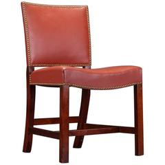 1940, Kaare Klint Model 3758 Mahogany Barcelona Chair for Rud. Rasmussen