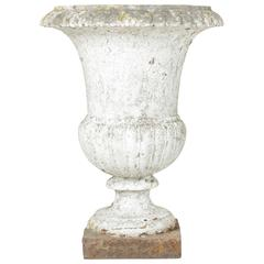 18th Century Cast Iron Classic French Versailles Urn, Planter, Jardinière
