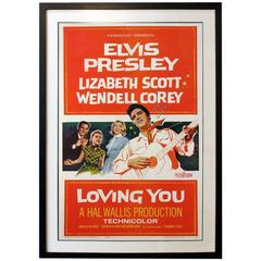 """Loving You"" Film Poster, 1957"