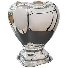 20th Century Italian Sterling Silver Vase gorgeous Italian craftsmanship