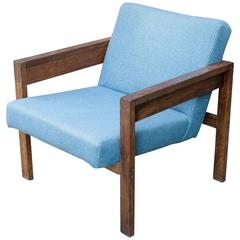 1960s, Dutch Wenge Lounge Armchair Chair by Hein Stolle