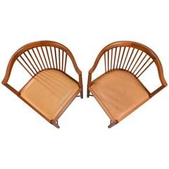 1940´s Børge Mogensen Mahogany King of Diamonds chairs for Søborg Møbelfabrik