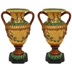 Pair of Italian Neoclassic Style Floor Vases