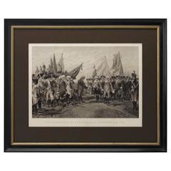 """1870 """"Surrender of Cornwallis at Yorktown"""" Engraving after Armand Dumaresq"""