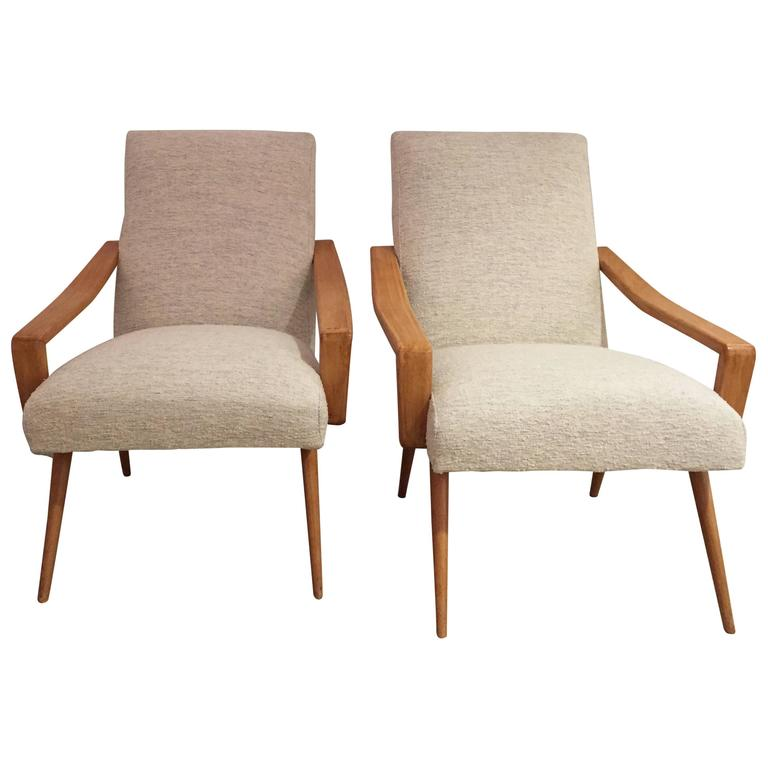 Pair of 1950 French Armchairs 1