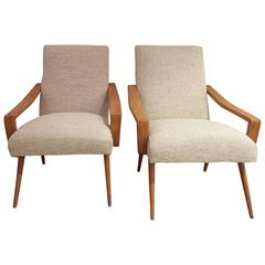 Pair of 1950 French Armchairs