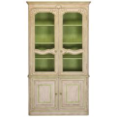 Painted French Country Cabinet Buffett a Deux Corps, 20th Century