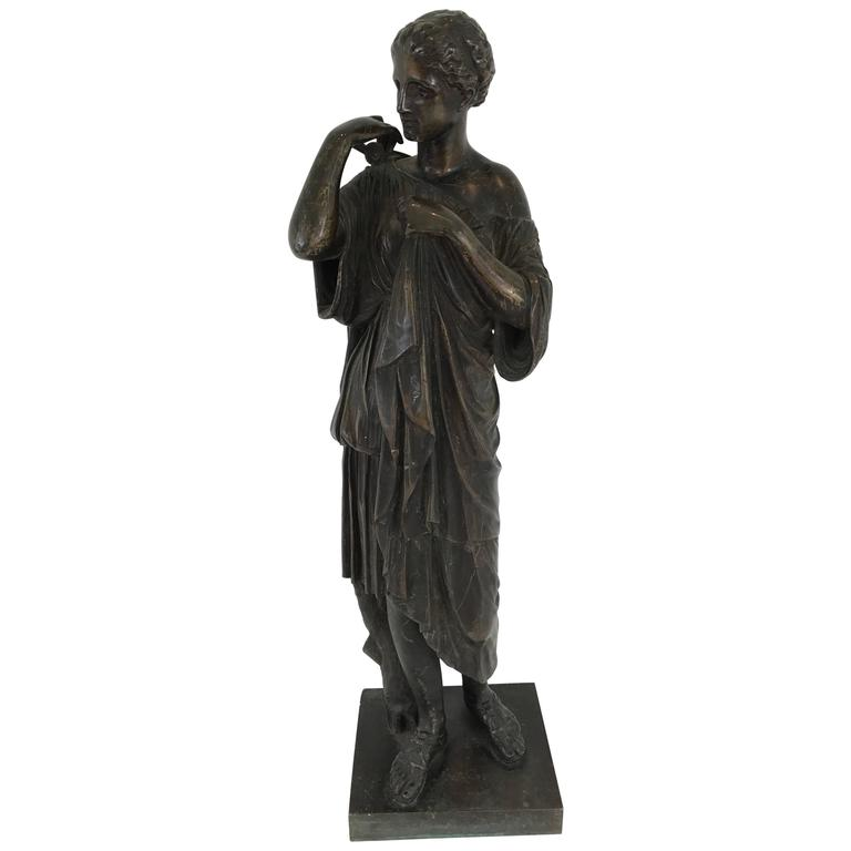 19th Century Grand Tour Bronze Figure of Diana