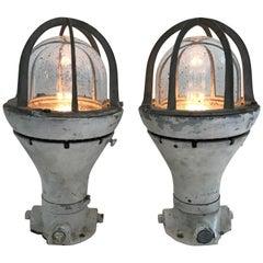 Pair of Vintage Blast Proof Lamps