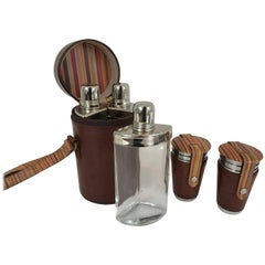 Limited Edition Paul Smith Traveling Flask Set and Julep Cups