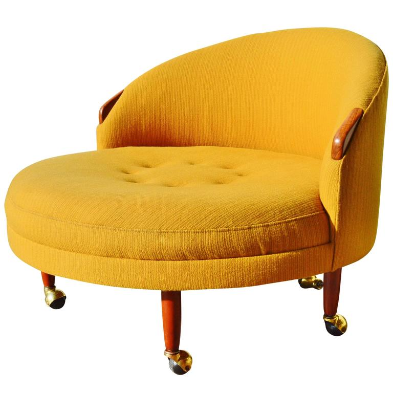 Beau Adrian Pearsall Havana Round Chair With Armrests And Legs U0027Craft  Associatesu0027 For Sale