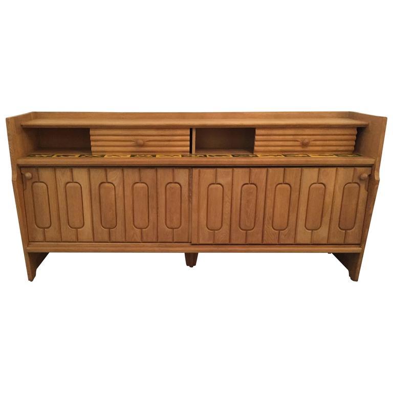 Oak Sideboard by Guillerme et Chambron