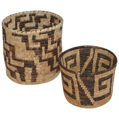 Two Papago Indian Baskets