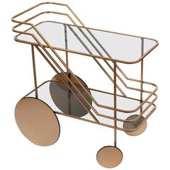 Dante Goods and Bads Come as You Are Bar Cart in Champagne