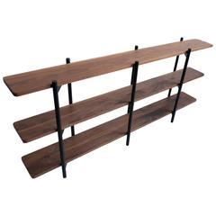 Gordo Bookshelf, Solid Wood, Powder Coated Steel