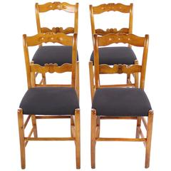 Set of Four Biedermeier Chairs, Biedermeier Period, circa 1830-1840, Cherry Tree