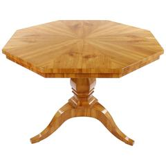 Rare Biedermeier Period Drawing Room Table, circa 1830-1840, Cherry Tree