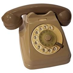 Grey Italian Bakelite Phone 1970s, Italy, Working