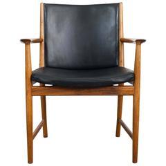 1960s Midcentury Danish Kai Lyngfeldt Larsen Rosewood and Leather Armchair