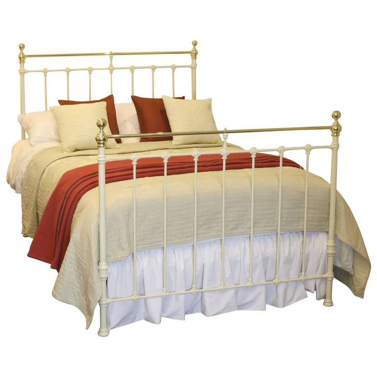 Double Victorian Cream Antique Bed Md49 At 1stdibs