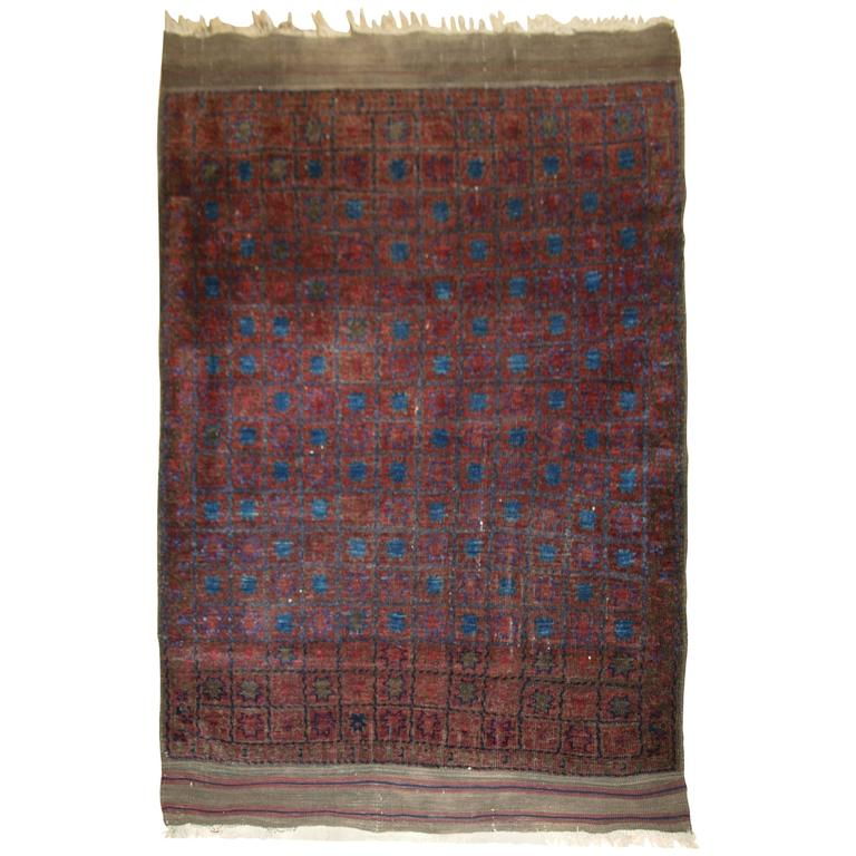 Antique Afghan Timuri Baluch Rug From Western Afghanistan