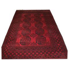 Old Afghan Village Rug of Traditional Design