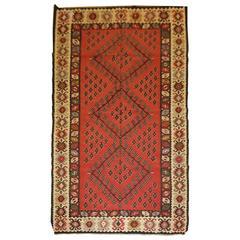 Old Anatolian Sharkoy Kilim, Western Turkey of Traditional Design