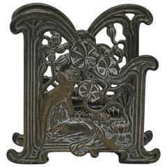 1920s Bronze Art Nouveau Letter Holder