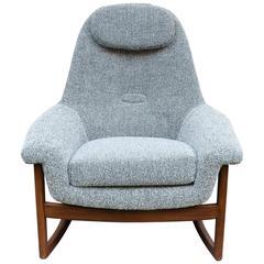 1960s Danish Teak and Bute Rocking Chair